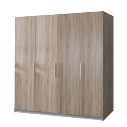 Dulap Amos cu 3 usi, Alb, 120x200x50 cm